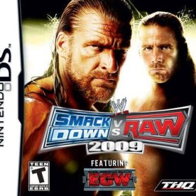 The cover art of the game WWE Smackdown vs. Raw 2009.