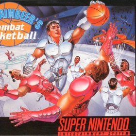 The cover art of the game Bill Laimbeer's Combat Basketball.