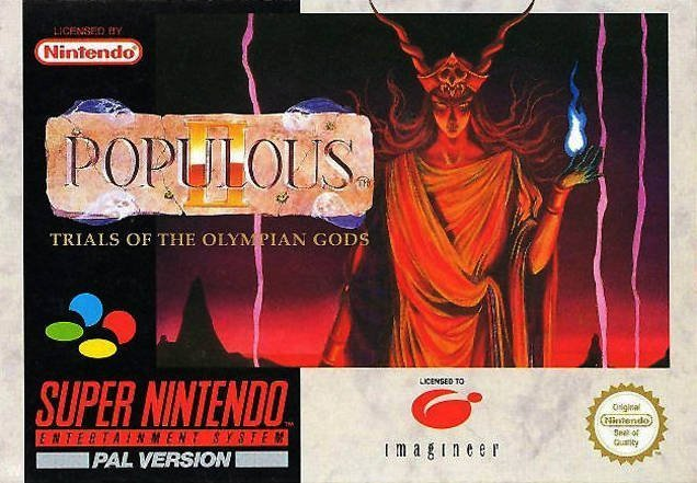 The coverart image of Populous II - Trials of the Olympian Gods