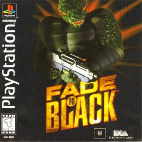 The cover art of the game Fade to Black.