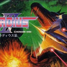 The cover art of the game Gradius III.