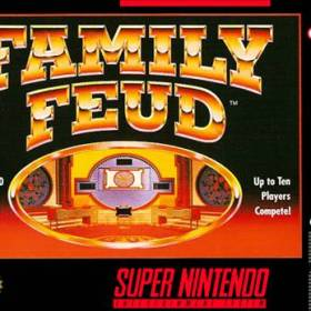 The cover art of the game Family Feud .