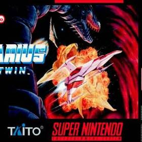 The cover art of the game Darius Twin .