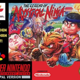 The cover art of the game The Legend of the Mystical Ninja.