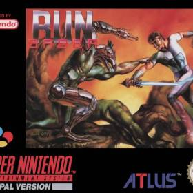 The cover art of the game Run Saber .