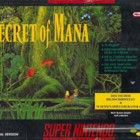 The cover art of the game Secret of Mana (Germany).