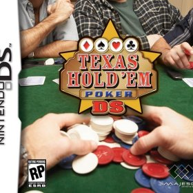 The cover art of the game Texas Hold 'Em Poker DS.