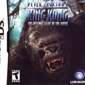 The cover art of the game Peter Jackson's King Kong: The Official Game of the Movie.