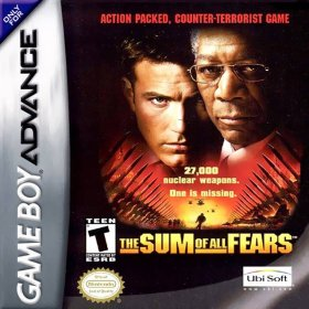 The cover art of the game The Sum of All Fears .
