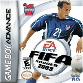 The cover art of the game FIFA 2003.