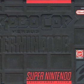 The cover art of the game RoboCop versus The Terminator .