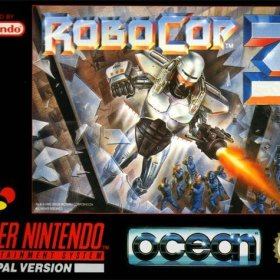 The cover art of the game RoboCop 3.