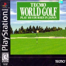 The cover art of the game Tecmo World Golf.