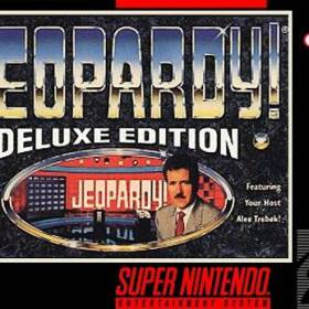 The cover art of the game Jeopardy! - Deluxe Edition .