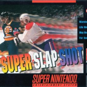 The cover art of the game Super Slapshot.