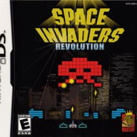 The cover art of the game Space Invaders Revolution .