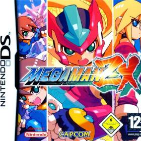 The cover art of the game Mega Man ZX.