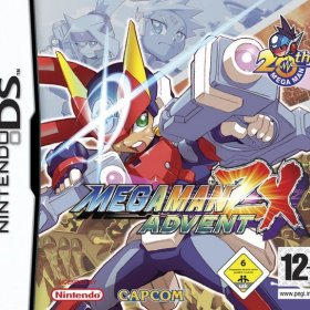 The cover art of the game Mega Man ZX Advent.