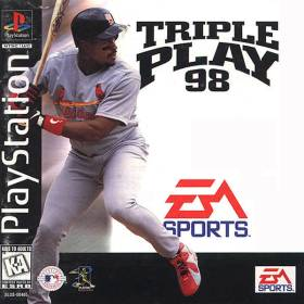 The cover art of the game Triple Play '98.