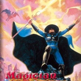 The cover art of the game Magician Lord.