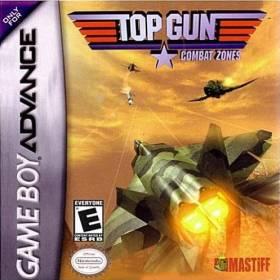 The cover art of the game Top Gun - Combat Zones.