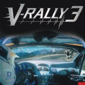 The cover art of the game V-Rally 3.