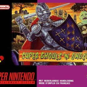The cover art of the game Super Ghouls'n Ghosts .