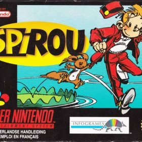 The cover art of the game Spirou .