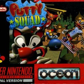 The cover art of the game Putty Squad .