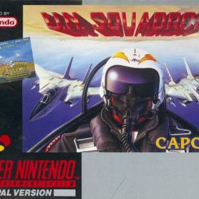 The cover art of the game U.N. Squadron .