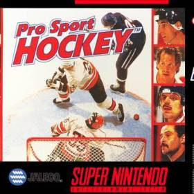 The cover art of the game Pro Sport Hockey .