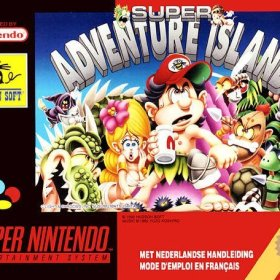 The cover art of the game Super Adventure Island .