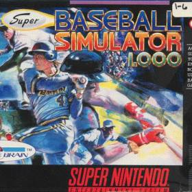 The cover art of the game Super Baseball Simulator 1.000 (USA).zip.