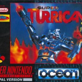 The cover art of the game Super Turrican 2 .
