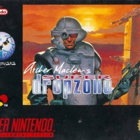 The cover art of the game Super Dropzone .