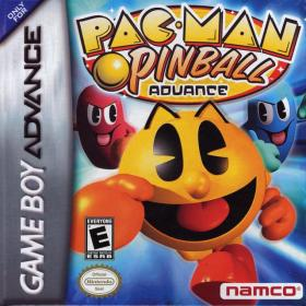 The cover art of the game Pac-Man Pinball Advance.