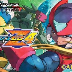 The cover art of the game RockMan Zero 4.