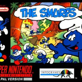 The cover art of the game The Smurfs.