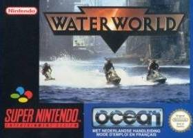 The cover art of the game Waterworld .