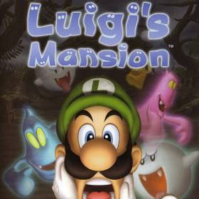 The cover art of the game Luigi's Mansion.