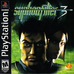 The cover art of the game Syphon Filter 3.