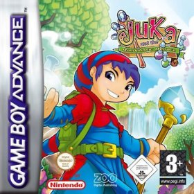 The cover art of the game Juka and the Monophonic Menace .