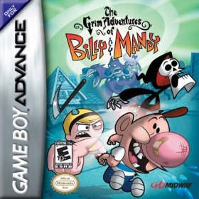 The cover art of the game  The Grim Adventures of Billy and Mandy .