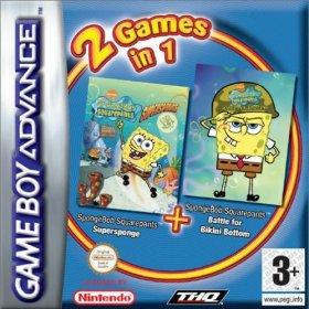 The cover art of the game 2 in 1 - SpongeBob Squarepants - Supersponge & Battle for Bikini Bottom .