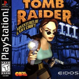 The cover art of the game Tomb Raider III: Adventures of Lara Croft.