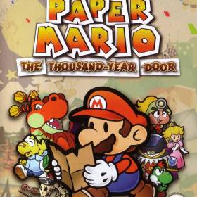 The cover art of the game Paper Mario: The Thousand-Year Door.