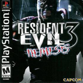 The cover art of the game Resident Evil 3: Nemesis.