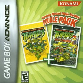 The cover art of the game Teenage Mutant Ninja Turtles - Double Pack .