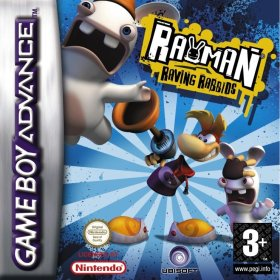 The cover art of the game Rayman - Raving Rabbids .