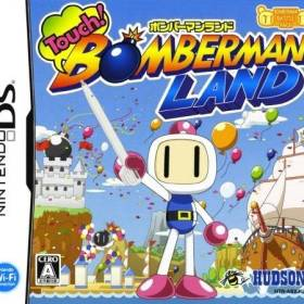 The cover art of the game Touch! Bomberman Land .